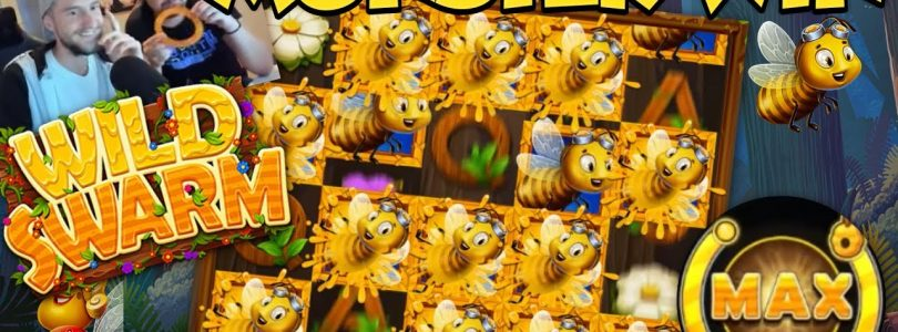HUGE WIN!! Wild Swarm Bee Game Big Win — Casino Games — (HYDE EXPLODE)
