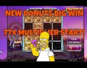 BIG WIN ON NEW DONUTS SLOTS **MASSIVE MULTIPLIER**