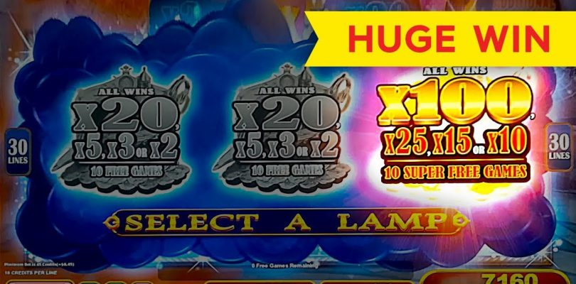 HUGE WIN! Lamp Of Destiny Slot — FINALLY, SUPER FREE GAMES, YES!