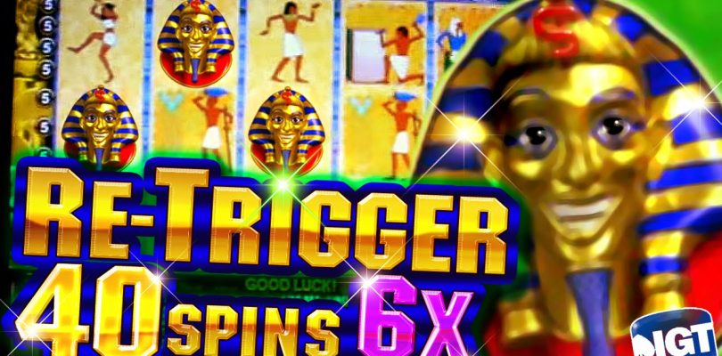 40 Free Spins on Pharaoh's Fortune + Retrigger  BIG WIN — 5c Video Slots