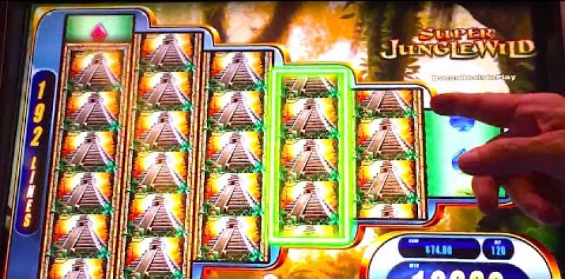 BIG WIN! LIVE PLAY «SUPER JUNGLE WILD» Slot Machine Bonus