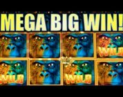 ★AMAZING MEGA BIG WIN!!★ GORILLA CHIEF (WMS) | MAX BET SUPER BIG WIN! Slot Machine Bonus