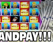 SLOT MACHINE JACKPOT  ★  THE SIMPSONS  ★ HUGE WIN AT THE CASINO