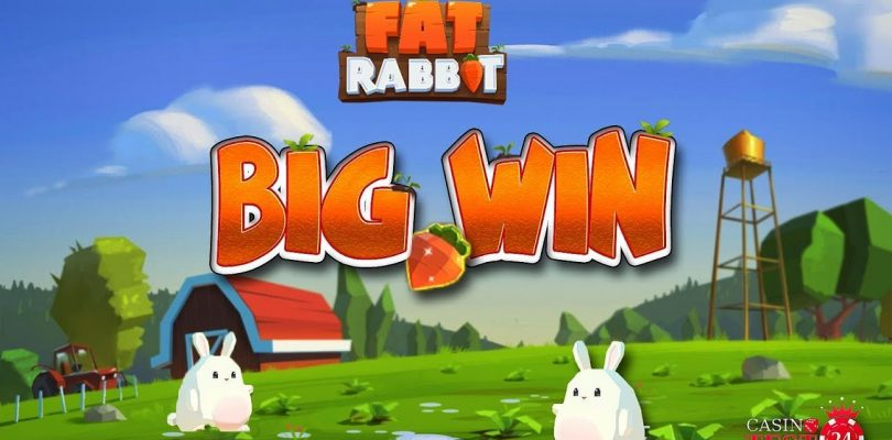BIG WIN ON THE NEW FAT RABBIT SLOT (PUSH GAMING) — 3€ BET!
