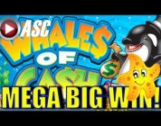 ★ MEGA BIG WIN! ★ WHALES OF CASH | MAX BET! Slot Machine Bonus (Aristocrat)