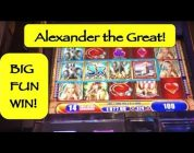 BIG WIN on Alexander the Great Slot Machine