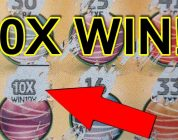 BIG WIN!! 10X Symbol PLUS wins on ALL games!! HUGE $10 scratch-off lottery ticket
