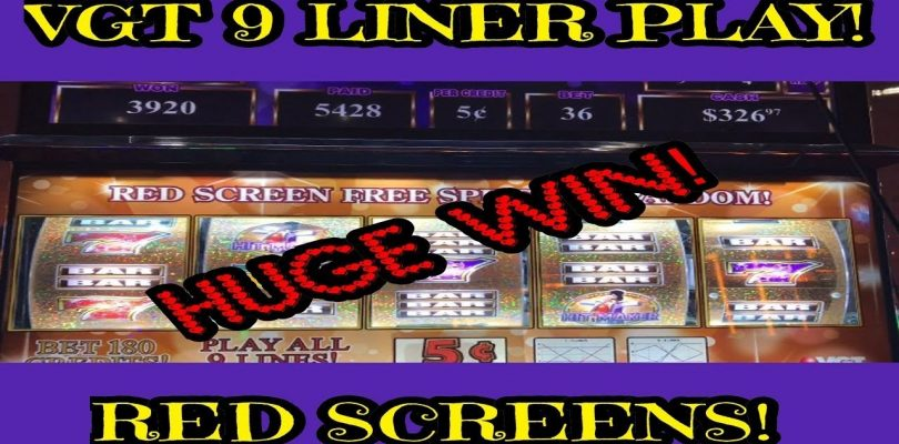 VGT 9 LINER HIT MAKER | RED SCREENS! | BIG WIN W/ HUGE RESULT!