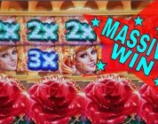 ★MEGA BIG WIN★Sparkling Roses Slot Machine Bonus ★HUGE WIN★ & Ninja Lady Slot Bonus Won! KONAMI SLOT