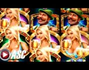 *BIG WIN!* BIER HAUS | WMS — W/ RETRIGGER! Slot Machine Bonus