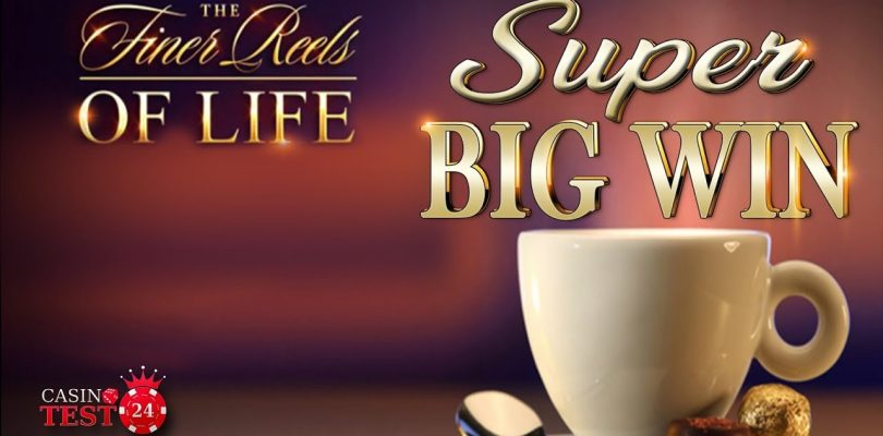 SUPER BIG WIN ON THE FINER REELS OF LIFE SLOT (MICROGAMING) — COFFEE & CHOCOLATE BONUS — 6€ BET!