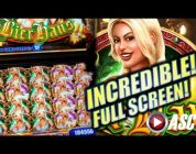 ★MEGA BIG WIN!★ BIER HAUS (WMS) &  INCREDIBLE HEIDI FULL SCREEN by a Lucky Lady! Slot Machine Bonus