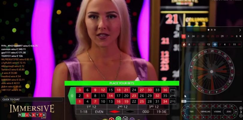 trying out Immersive Roulette — BIG WIN-