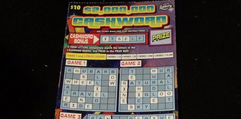 The Early Word 33: **BIG WIN!** $10 $2M CASHWORD FL Lottery Scratch Ticket