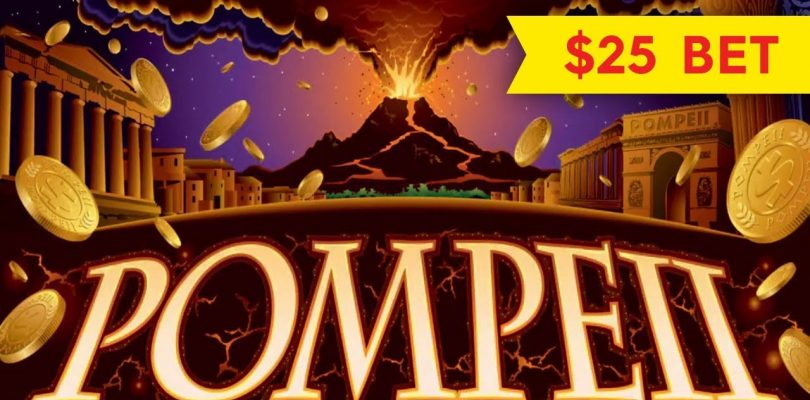 Wonder 4 Pompeii Slot — $25 Max Bet — BIG WIN BONUS!