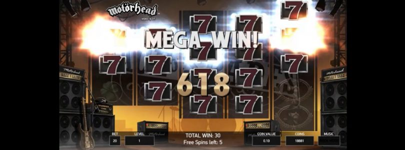 BIG WIN Motorhead Video Slot