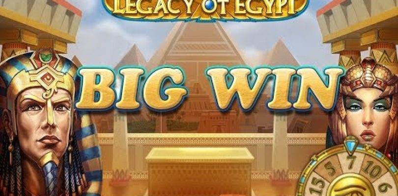 BIG WIN ON LEGACY OF EGYPT (PLAY'N GO) — 4,50€ BET!