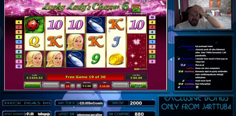 Mega Big Win From Lucky Lady's Charm 6!!