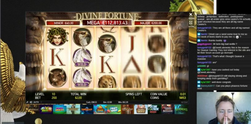 Divine Fortune big win in free spins