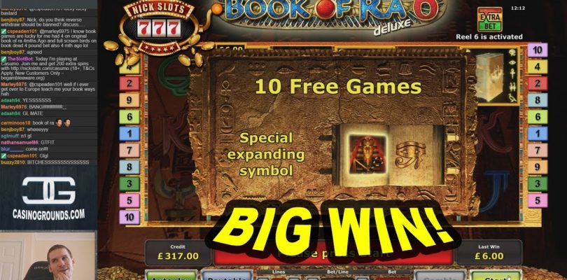 BIG WIN on Book of Ra 6 Slot — £6 Bet!