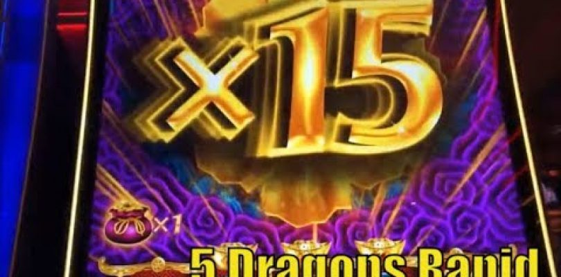 ★FINALLY SUPER BIG WIN !!☆5 DRAGONS RAPID Slot machine★Totally revenge completed/All Live Play☆彡