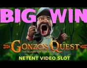 ONLINE SLOT BIG WIN — GONZO'S QUEST 2018 (real money play + free falls!) — NETENT