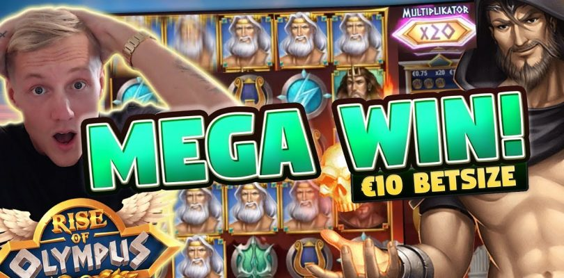 MEGA WIN! Rise of Olympus BIG WIN — 10 euro bet — Huge win from Casino LIVE stream