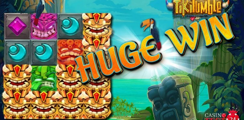 HUGE MEGA BIG WIN on Tiki Tumble Slot (Push Gaming) — 4€ BET!