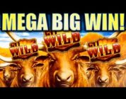 ★MEGA BIG WIN! LONGHORN★ W/ CUTEST BIG WIN CELEBRATION ON YOUTUBE!! Slot Machine Bonus