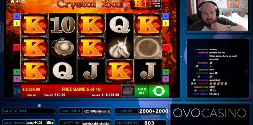 Big Bet!! Super Big Win From Crystal Ball Slot At OVO Casino!!