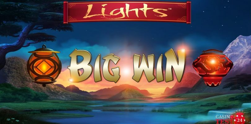 BIG WIN on Lights Slot (Netent) — 9€ BET!
