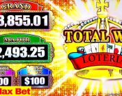 High Limit LOTERIA Lock It Link $25 Bet Bonus BIG WIN | Lock It Link Diamonds & Mighty Cash Slot Win