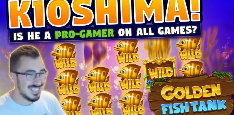 Huge win! Golden Fish tank BIG WIN — 12 euro bet — Casino With KioShiMa (k1o) from LIVE stream