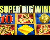 ★SUPER BIG WIN! ★ STACK OF GOLD Slot Machine Bonus (Aristocrat)