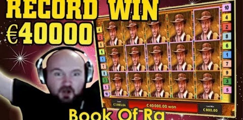 Big Win €40000 Book Of Ra Slot! Best Highlights Online Casino Streamers!