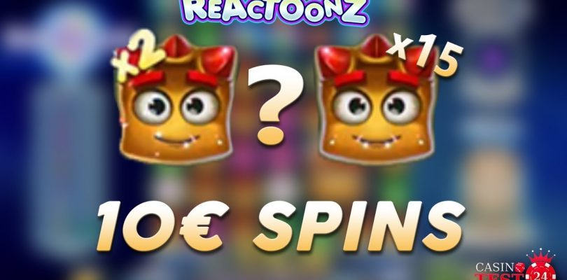 BIG WIN on Reactoonz Slot (Play'n Go) — 10€ SPINS