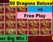 ★SUPER BIG WIN★50 DRAGONS DELUXE vs FREE PLAY★☆Live play & Bonus ☆$1.50~$3.00 MAX BET 栗スロット