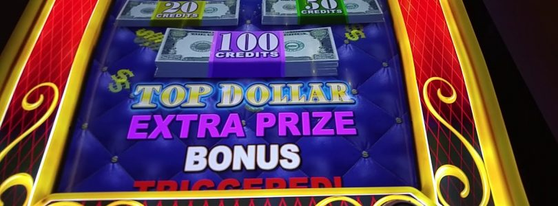 Big Win! Top Dollar slot machine bonus rounds at Mohegan Sun casino