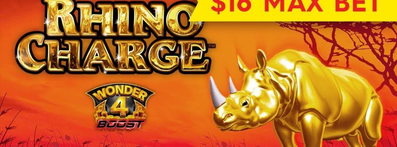 BETTER THAN JACKPOT — Wonder 4 Boost Rhino Charge Slot — BIG WIN BONUS!