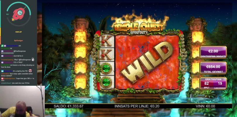 Temple Quest Spinfinity -100 + Spins — Big Win