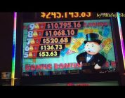 Akafuji Slot BIG WIN MONOPOLY MONEY Dollar Slot Machine Max Bet $5 Start Free Play $120 Casino