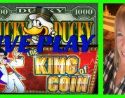 ** LIVE PLAY ** BIG WIN ** KING OF COIN ** LUCKY DUCK