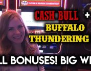 NEW Buffalo Thundering 7s and Cash Bull! BIG WIN ALL Bonuses!!