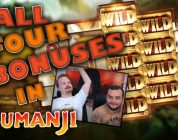 Jumanji slot — All 4 bonuses (not a big win)