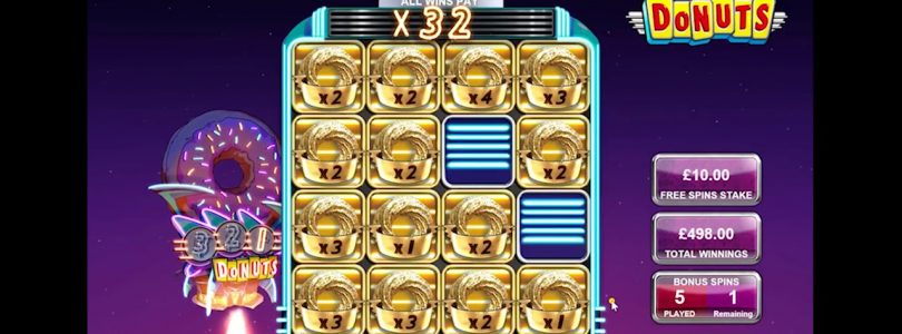NEW SLOT DONUTS BIG WIN OVER 3000 EUR BIG TIME GAMING