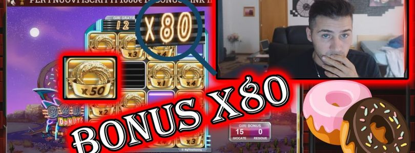 BET 5€ / DONUTS SLOT X80 IN BONUS / GRANDE VINCITA / BIG WIN / CASINO ITALIANO