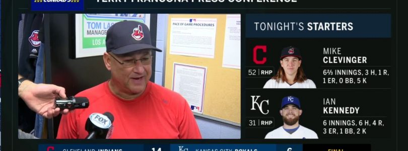 Terry Francona praises Mike Clevinger and Jason Kipnis after big win in KC