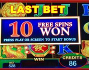 ** BIG WIN ON VERY LAST BET ** DRAGON FA ** SLOT LOVER **