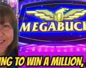 BIG WIN ON MEGABUCKS-TRYING TO WIN A MILLION-LOL