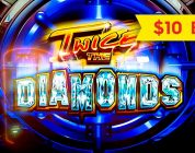 Twice The Diamonds Slot — BIG WIN BONUS — $10 Bet!